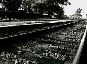 The railroad track as it enters Winter Park