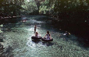 Visitors tube at Blue Springs State Park.